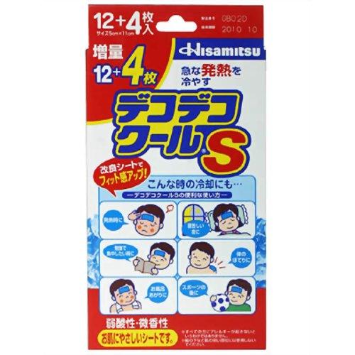 【送料無料・まとめ買い×20個セット】久光製薬 デコデコクールS こども用 12+4枚(16枚入)