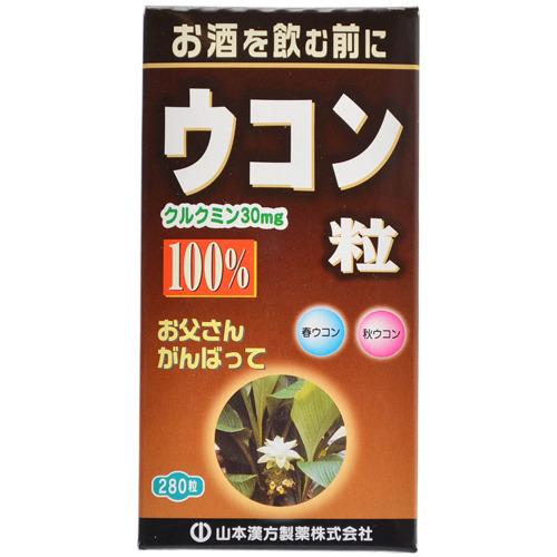 【送料無料・まとめ買い×20個セット】山本漢方製薬 ウコン粒100% 280粒入
