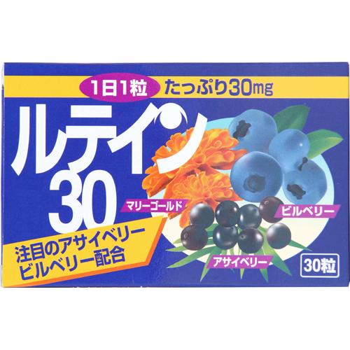 【送料無料・まとめ買い×20個セット】本草製薬 ルテイン・30 (30カプセル)
