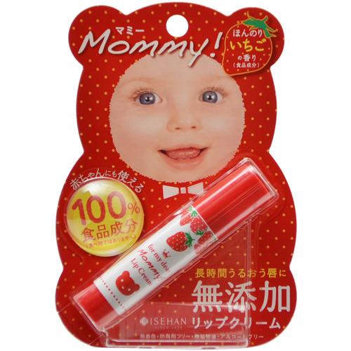 【×24個セット送料無料】伊勢半 マミー 無添加リップクリーム ほんのりいちごの香り 3.5g(4901433005234)