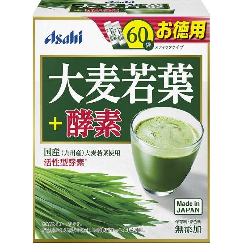 【送料無料・まとめ買い×10個セット】アサヒグループ食品 大麦若葉+酵素 60袋入