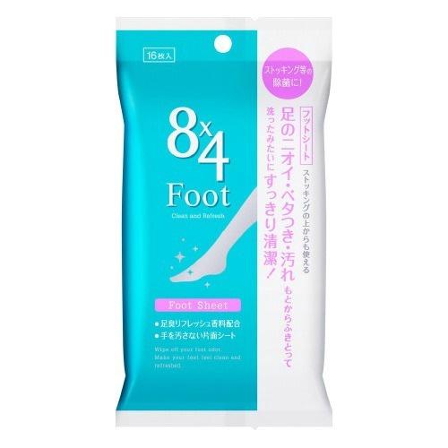 【送料無料・まとめ買い48個セット】花王 8x4 エイトフォー フットシート 16枚入