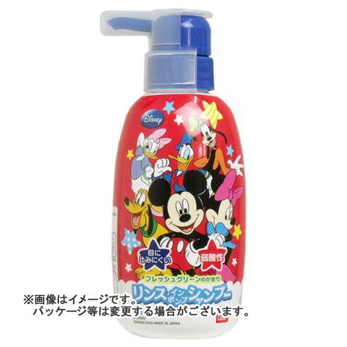 【送料無料・まとめ買い×24個セット】バンダイ リンスインポンプシャンプー ミッキーマウス 300ml