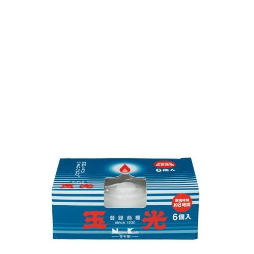 【送料無料・まとめ買い×50個セット】日本香堂 玉光ローソク コップローソク 6個入 日本製