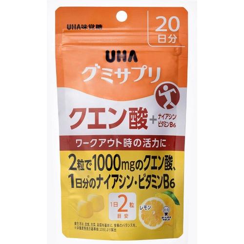 【送料無料・まとめ買い×24個セット】UHA味覚糖 グミサプリ クエン酸 20日分
