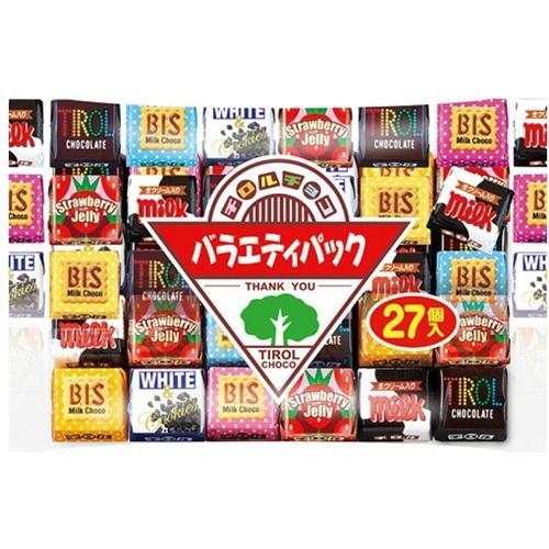 【送料無料・まとめ買い×40個セット】チロルチョコ バラエティパック 27個入