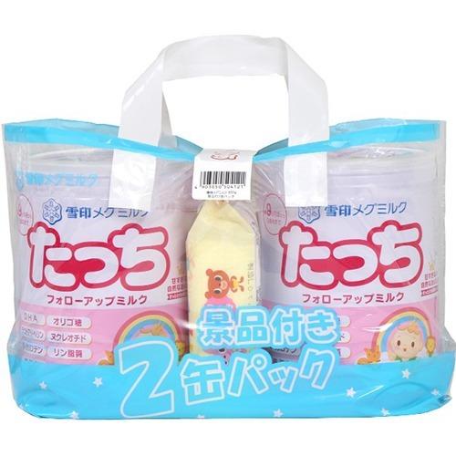 【送料無料・まとめ買い×4個セット】雪印メグミルク たっち 850g×2缶 + ふんわりタッチのおしりふき80枚