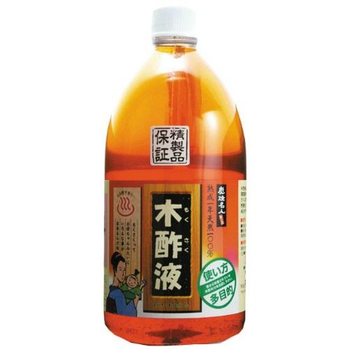 【送料無料・まとめ買い×12個セット】日本漢方研究所 純粋木酢液 1L 透明ボトル入り