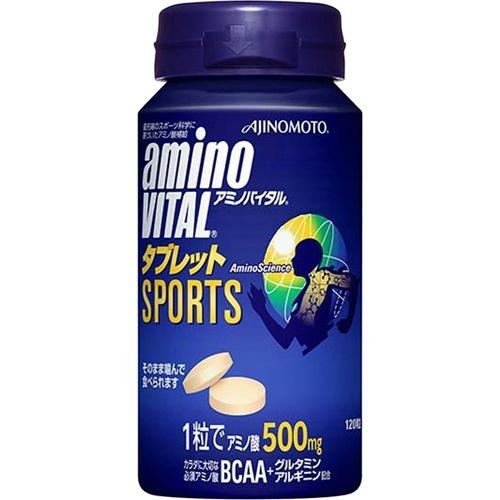 【送料無料・まとめ買い×4個セット】味の素 アミノバイタル AMINO VITAL タブレット 120粒入 缶