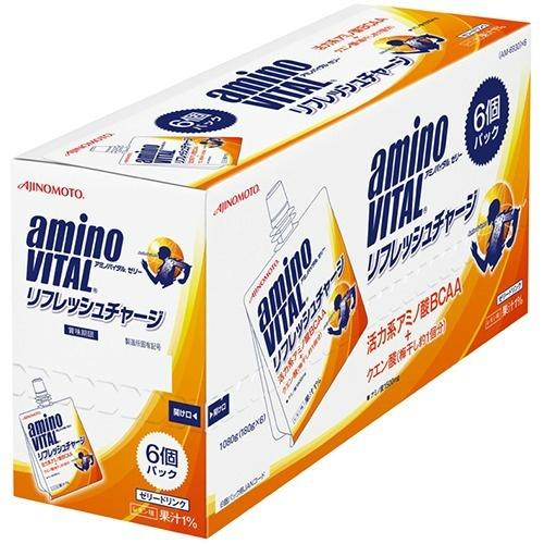 アミノ酸ゼリー 超歓迎された 4901001149926 送料無料 まとめ買い×4個セット 味の素 激安通販専門店 VITAL 6個パック リフレッシュチャージ AMINO アミノバイタル