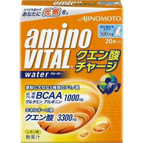 【送料無料·まとめ買い×6個セット】味の素 アミノバイタル AMINO VITAL クエン酸チャージウォーター 20本入