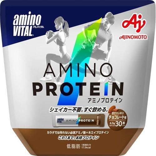 【送料無料・まとめ買い×6個セット】味の素 アミノバイタル AMINO VITAL アミノプロテイン チョコ 30本入