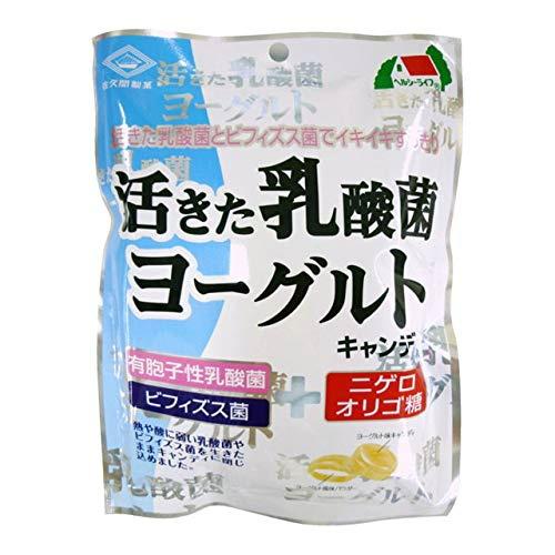 【まとめ買い×48個セット】佐久間製菓 活きた乳酸菌 ヨーグルトキャンディ 90g