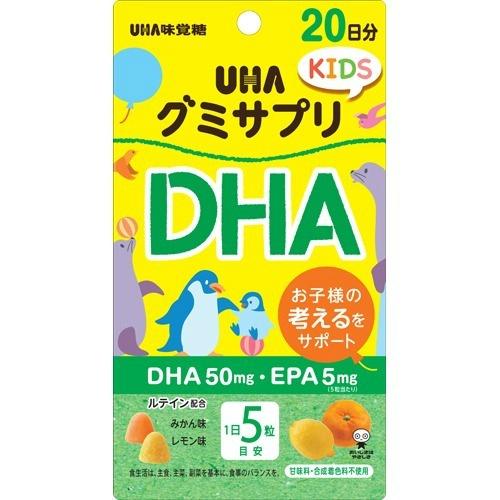 【×6個セット送料無料】味覚糖 グミサプリKIDS DHA 20日分成長期のお子様の栄養補助に DHA EPA ルテイン 4902750696846
