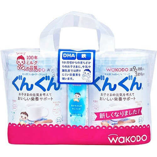 【送料無料・まとめ買い×8個セット】和光堂 フォローアップ ミルク ぐんぐん 830g×2缶入