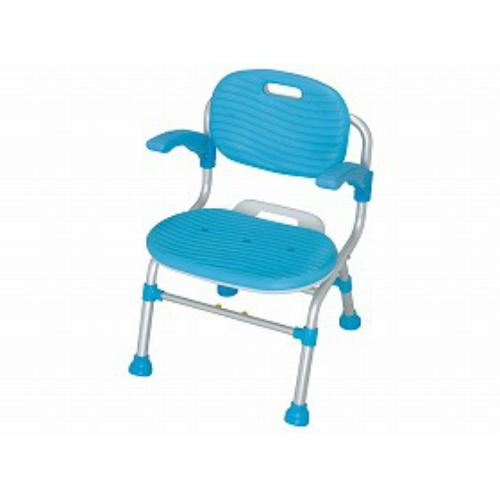 幸和製作所 折りたたみシャワーチェア テイコブSC01(肘掛け付)ブルー 標準