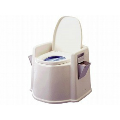 【送料無料】幸和製作所 テイコブ ポータブルトイレ(肘掛け付)PT02