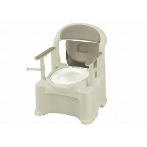 【送料無料】リッチェル ポータブルトイレきらくPS2型グレー 普通