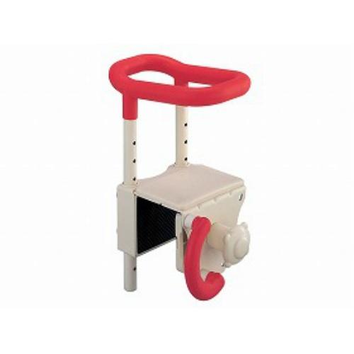 【送料無料】アロン化成 高さ調節付浴槽手すりUST-130レッド