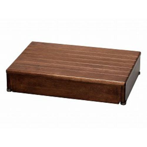 【送料無料】アロン化成  木製玄関台 60W-40-1段ブラウン