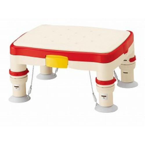 【送料無料】アロン化成 高さ調節付浴槽台R(滑り止めシート)レッド