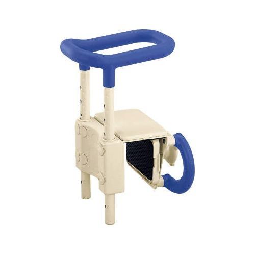 【送料無料】高さ調節付浴槽手すり UST-130 536-601 ブルー(1台)
