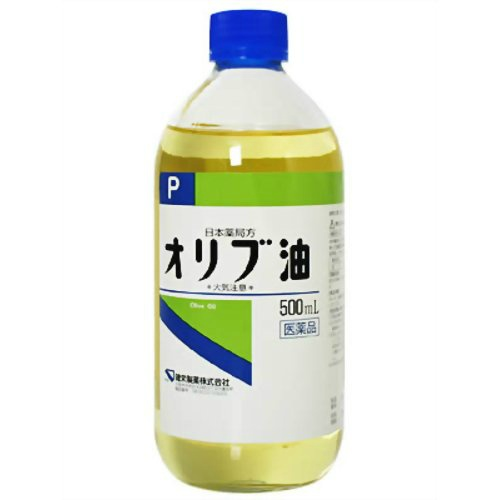 【×10本セット送料無料】【第3類医薬品】 オリブ油 500ml(4987286307572)皮ふの保護、日焼け炎症の防止、やけど、かぶれ