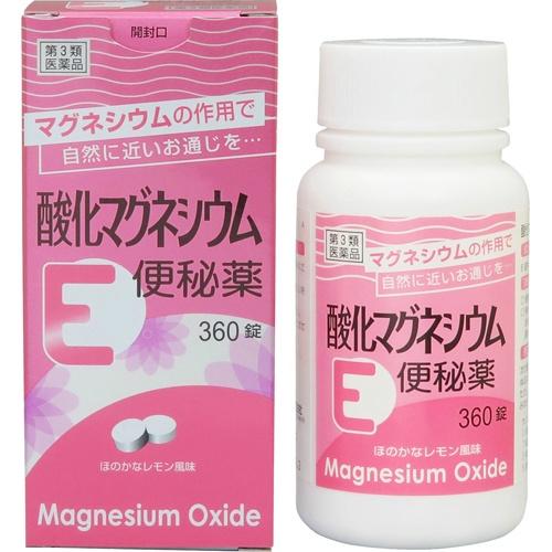 【送料無料・まとめ買い×4個セット】【第3類医薬品】健栄製薬 酸化マグネシウムE 便秘薬 360錠