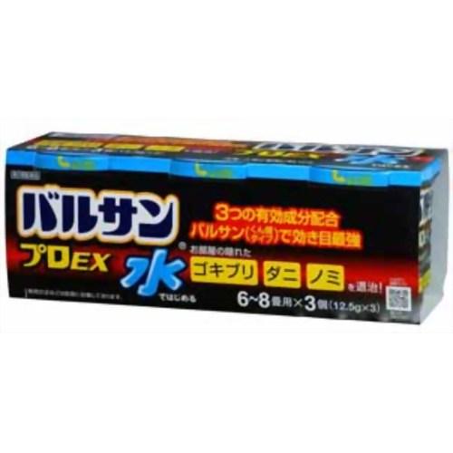 【送料無料・まとめ買い×6個セット】【第2類医薬品】ライオン 水ではじめるバルサンプロEX 12.5g(6-8畳用)×3個入