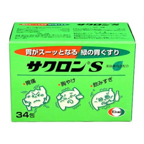 【送料無料・まとめ買い×6個セット】【第2類医薬品】エーザイ サクロンS 34包