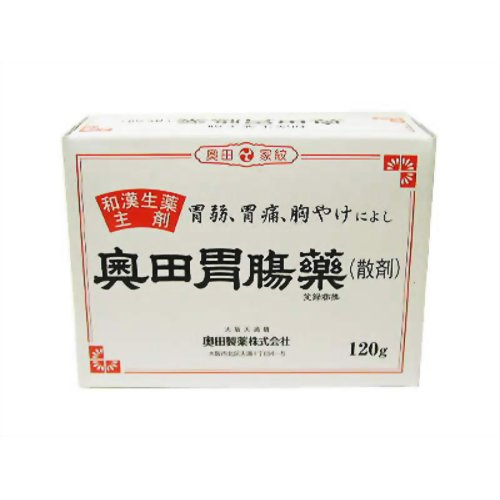 【送料無料・まとめ買い×20個セット】【第2類医薬品】奥田胃腸薬 散剤 120g