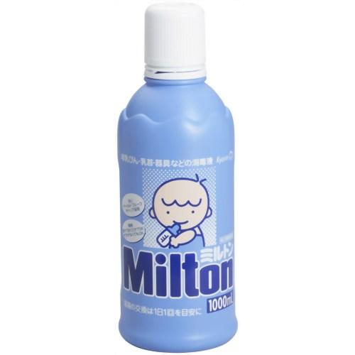 【送料無料・3個セット】【第2類医薬品】ミルトン (次亜塩素酸ナトリウム) 液体タイプ 1L