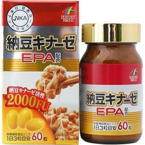 【送料無料・まとめ買い×6個セット】ユニマットリケン 納豆キナーゼ EPA 60粒