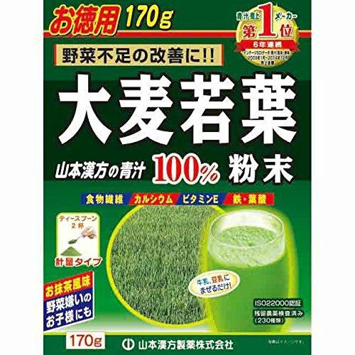 【×10個セット送料無料】山本漢方製薬 大麦若葉粉末100% 170g