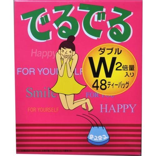 ダイエットドリンク 健康茶 4987351520332 爆売り 毎朝のスッキリ感をサポートする健康茶です 至上 でるでるW ×3個セット送料無料 昭和製薬 48包