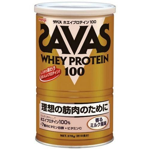 【送料無料・3個セット】明治 ザバス ホエイプロテイン100 香るミルク 378g
