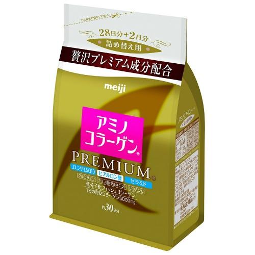 【送料無料・5個セット】明治製菓 アミノコラーゲンプレミアム詰替え 214g
