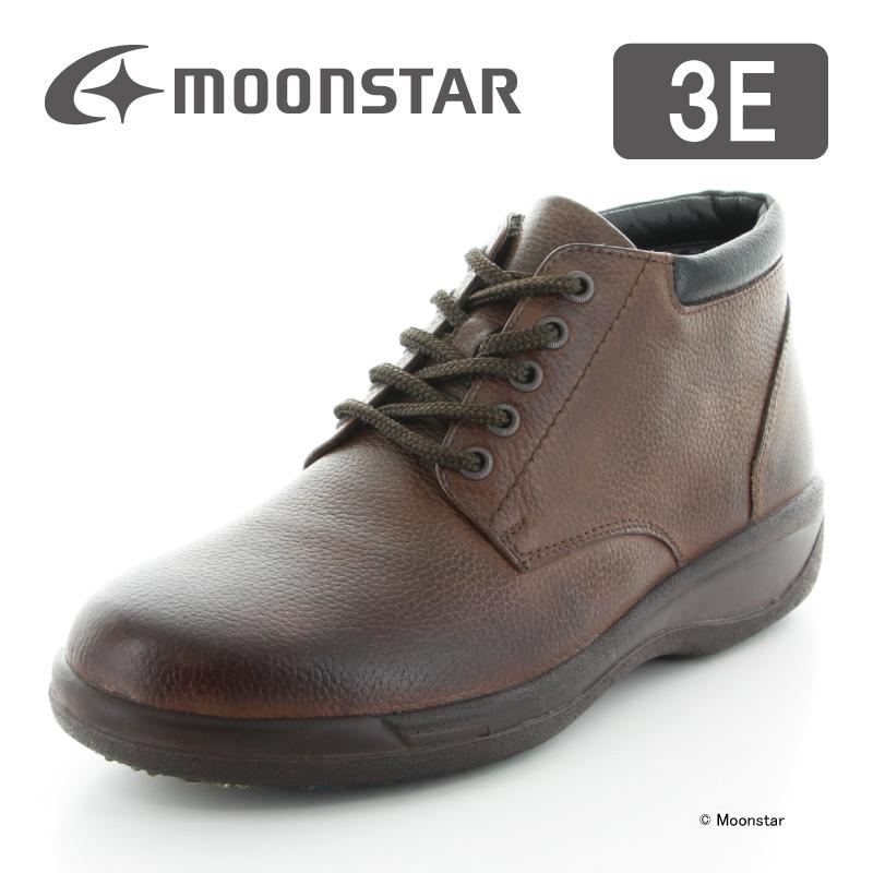 ムーンスター メンズ ブーツ SPH8962WSR ダークブラウン moonstar 3E 防滑底 透湿防水