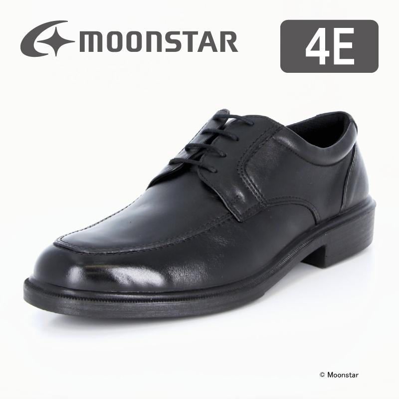 ムーンスター メンズ ビジネス シューズ ビッグサイズ SPH4941 B ブラック moonstar 幅広 4E 撥水加工 国産