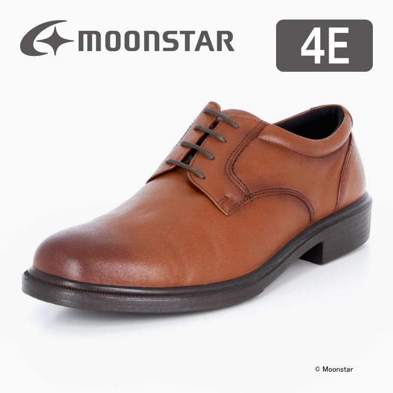 ムーンスター 【送料無料】 メンズ ビジネス シューズ SPH4940 ブラウン moonstar 幅広 4E 撥水加工 国産