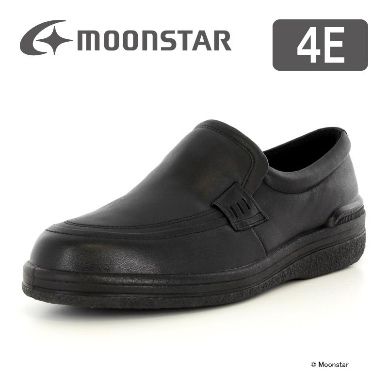 ムーンスター 【送料無料】 メンズ ビジネス シューズ SPH3503 ブラック moonstar 幅広 4E 撥水加工 国産