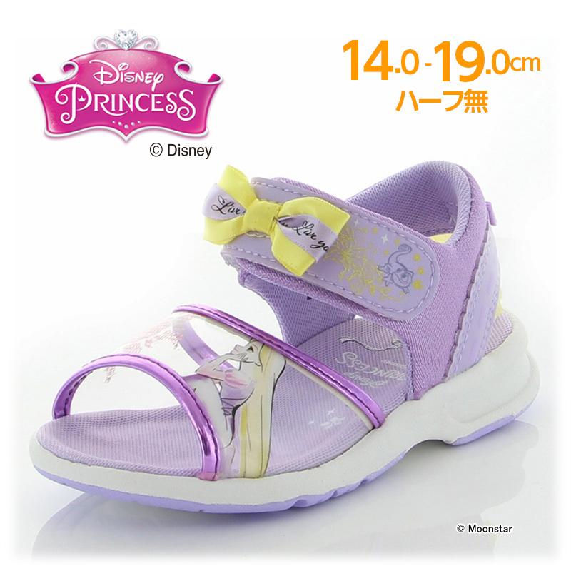 ディズニー プリンセス のキッズサンダル 残りサイズ14.0cm 訳あり ラプンツェル セール 子供靴 キッズ サンダル 海外並行輸入正規品 moonstar DN パープル ムーンスター C1277 女の子