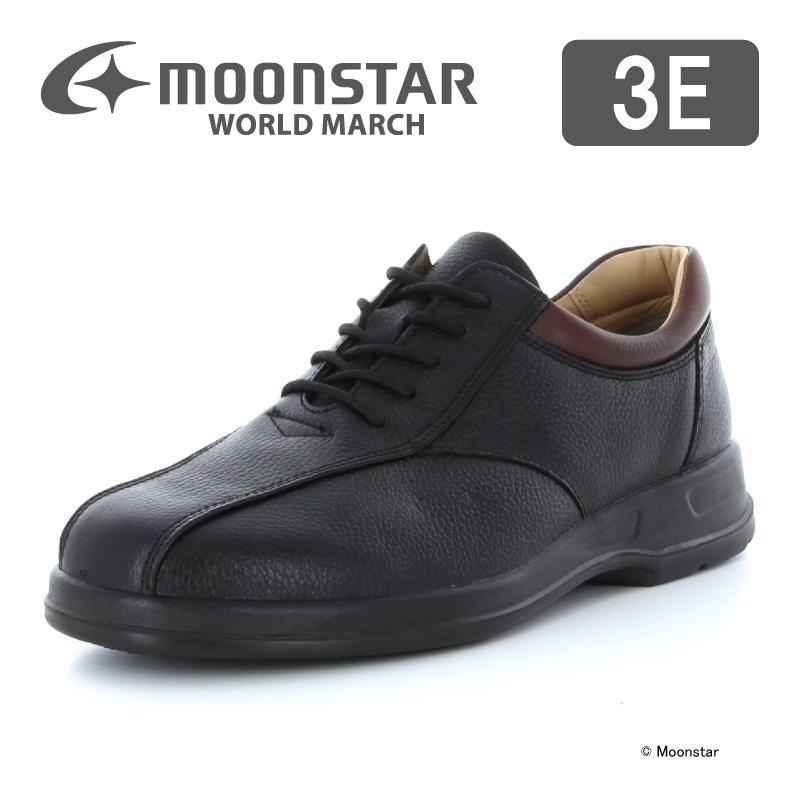 ムーンスター ワールドマーチ メンズ ビジネス シューズ WM2026ST ブラック moonstar 3E 国産
