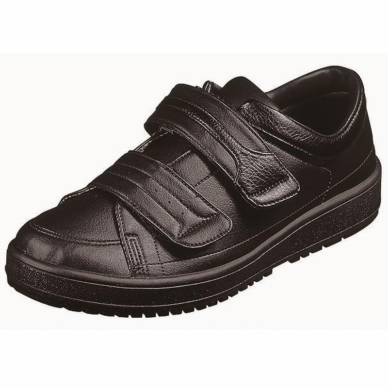 【送料無料】【ムーンスター】【介護靴】Vステップ04 ブラック(両足同サイズ)
