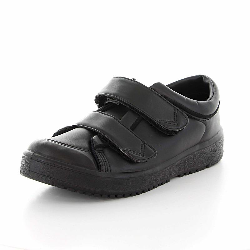 【送料無料】【ムーンスター】【介護靴】Vステップ05 ブラック(両足同サイズ)