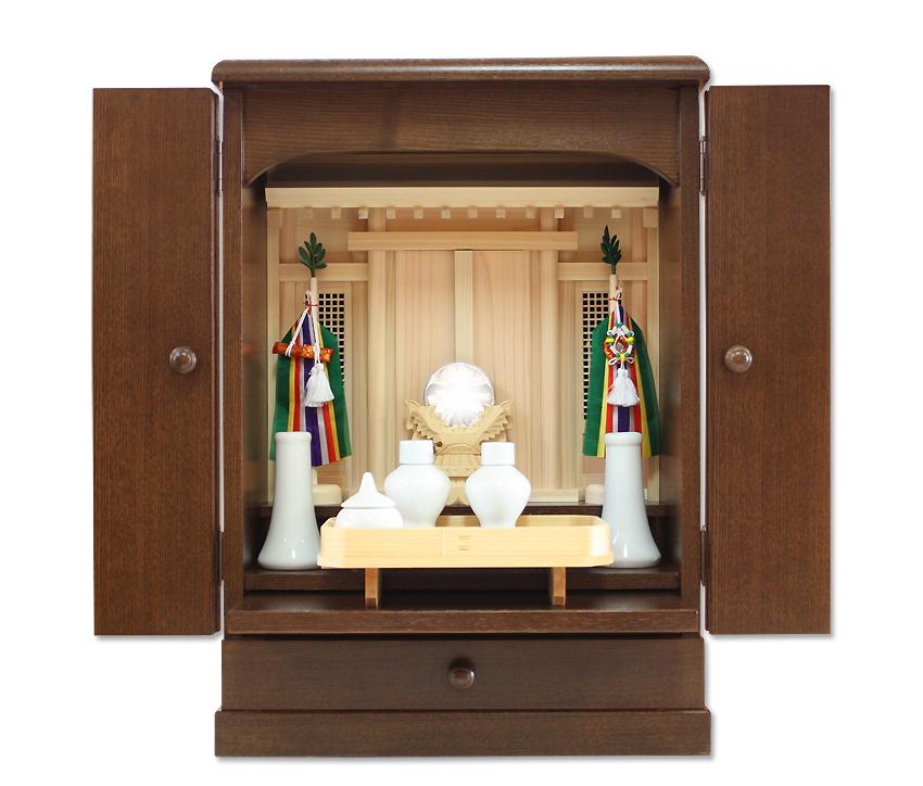 上置型 祖霊舎・御祖霊舎 現代型・家具調( 神徒壇 ) 柚月18号 ウォールナット色