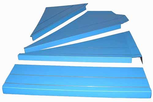 暖段 DANDAN 1ケース 養生材 直階段用8枚+右回り階段用6枚 引越し資材 保護材 簡易養生 マット 緩衝材 工事用品