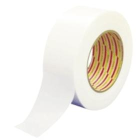 ダイヤテックス ラインテープ L-10-WH 75mm巾×50m 5巻 工場・倉庫用 ポリエチレンクロス使用 中粘着 薄くて段差が気にならない ホワイトライン 白線
