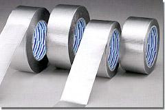 ダイヤテックス K-10-AL アルミテープ 75mm巾×50m 24巻 アクリル系粘着剤 手切れOK 刃物不要 貼り直し簡単 強粘着 剥離紙なし 冷暖房用ダクト工事 保温・保冷パイプ被覆工事