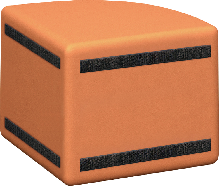 プレイスクエアー コーナーベンチ(R) AP-03 W450×D450×H360mm 椅子 いす イス キッズルーム キッズスペース キッズコーナー 業務用 店舗用 子供部屋 セーフティグッズ 赤ちゃん ベビー 病院 待合室 レストルーム